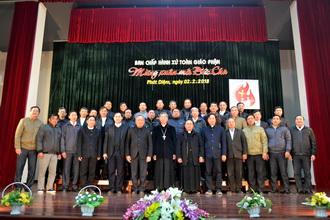Quý chức các Ban chấp hành giáo xứ  đón Tết, mừng xuân với Đức Cha