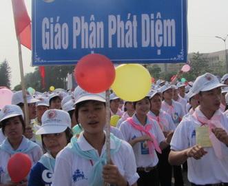 Đoàn giới trẻ tham dự ĐHGT tại Bắc Ninh, 2011