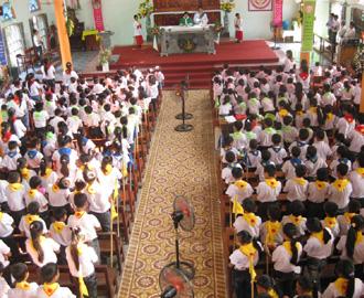 Xứ đoàn TNTT Gioan Tiền Hô tiếp nhận thêm 95 đoàn sinh