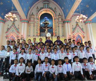Thánh lễ Thêm Sức tại nhà thờ Như Sơn ngày 27-11-2011
