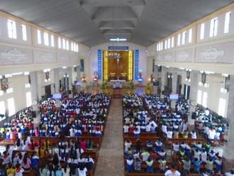 Thiếu Nhi Thánh Thể giáo xứ Cồn Thoi tĩnh tâm mùa chay 2017