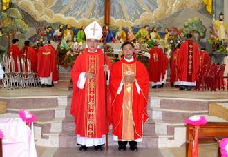 Giáo xứ Kim Trung đón cha tân chính xứ